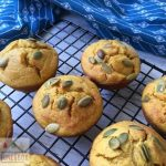 Delicious dairy and nut free Pumpkin Coconut Muffins. No refined sugar and freezer friendly.