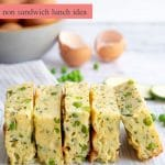 Zucchini Pea and Ricotta Slice