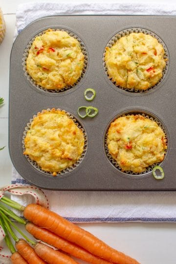 delicious cheese and vegetable lunchbox muffins