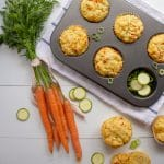 cheese and vegetable lunchbox muffins
