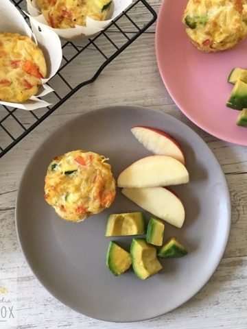 Delicious and nutritious Vegetable Muffin Tin Frittatas. Fantastic alternative to a sandwich in the lunchbox and delicious home lunch for your toddlers and preschoolers.