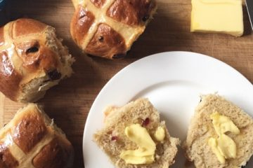 Delicious low sugar Berry and Cardamom Hot Cross Buns. A gorgeous variation on the traditional flavours.