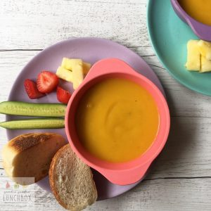 Deliciously smooth and creamy Pumpkin Soup. Kid approved, great for lunchboxes.