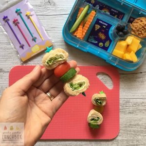 How to get Vegetables in the Lunchbox: Thread vegetables onto Stix for a fun lunch idea.