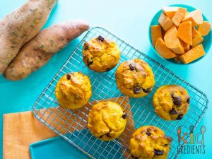 How to get vegetables into the lunchbox: sweet-potato-choc-chip-muffins