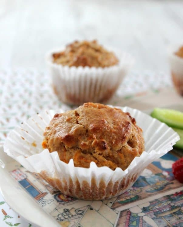 Wholemeal Carrot Muffins - delicious and packed full of goodness. Low in sugar these Wholemeal Carrot Muffins are fantastic for the lunchbox