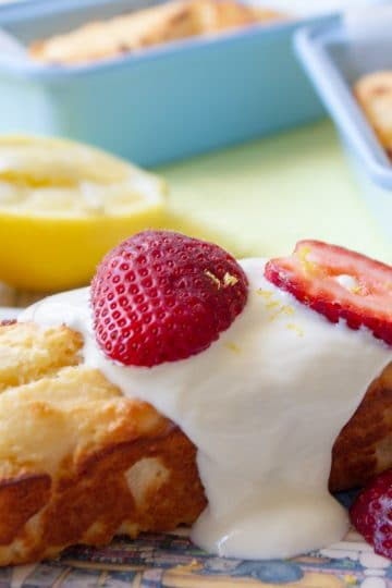 Lemon Yogurt Mini Loaves are delicious, and tangy. Great for lunchboxes and pretty enough to hold their own as dessert, drizzled in yogurt and topped with fresh berries.