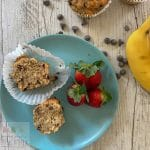 Delicious Banana Chocolate Chip Muffins are a no added sugar treat that will be a hit for lunches, snacks or even breakfasts on the go. Your kids will love these wholemeal and protein packed Banana Chocolate Chip Muffins