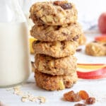 Stack of apple oat cookies