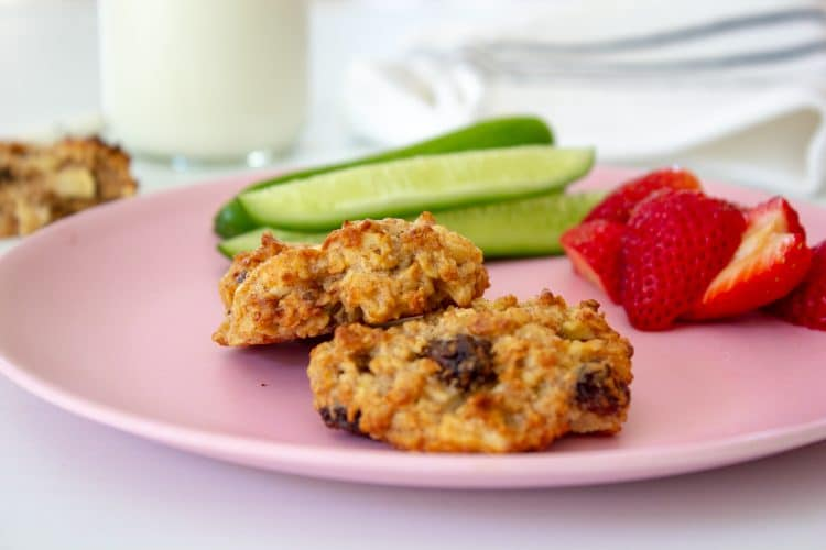 Sugar Free Apple Oat Cookies are nut and dairy free and just perfect for school lunches or baby led weaning. Full of goodness and free of sugar these cookies will be a family favourite.