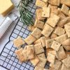 Parmesan and Rosemary crackers are delicious home made crackers that are nut and egg free. Perfect for school lunches or cheese platters.