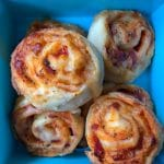 Yogurt Dough Pizza Scrolls are a great option for school lunches, quick to make and kid approved