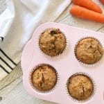 delicious sugar free carrot cake muffins, fantastic for lunchboxes, breakfast, baby led weaning.