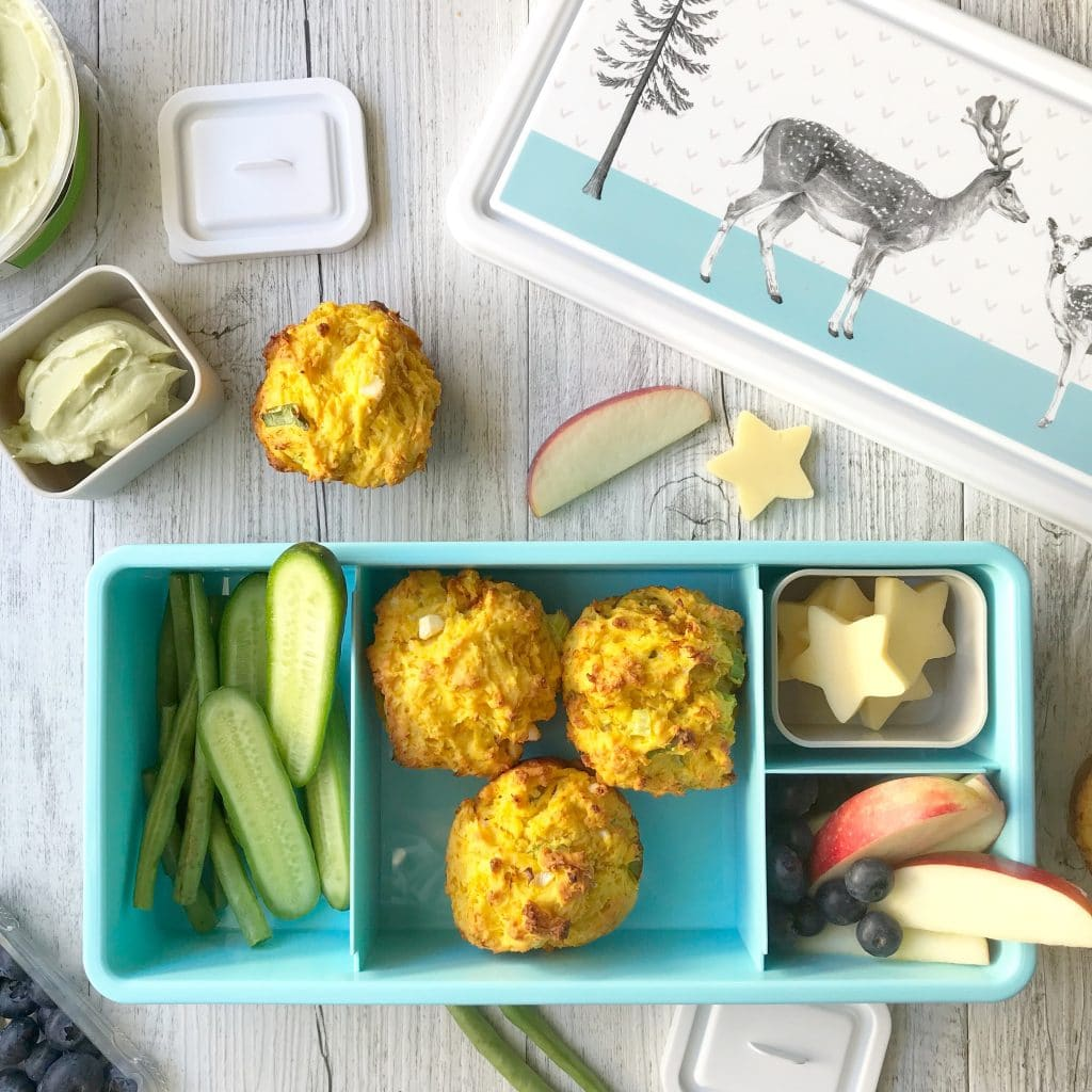 Roasted pumpkin and feta muffins a delicious change from a sandwich in the lunchbox