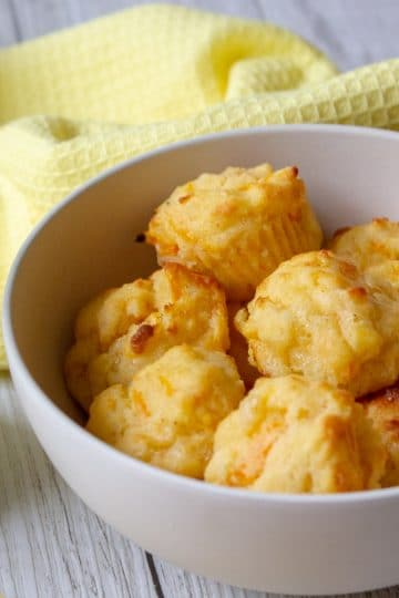 cheese and carrot mini-muffins