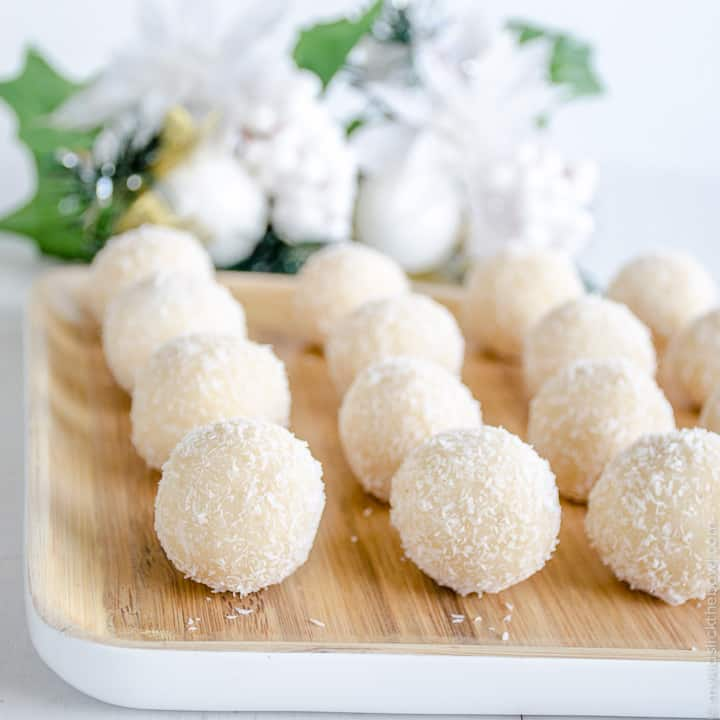 Christmas class party food - coconut snowballs