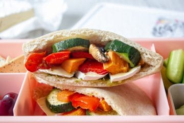 roasted vegetable pita pockets