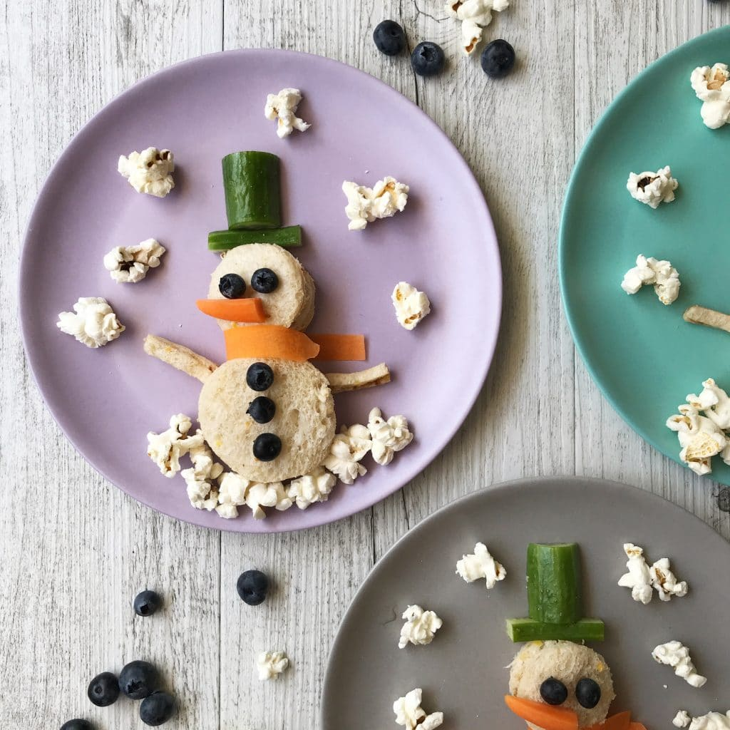 Christmas food art ideas - snowmen