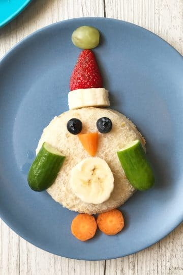 Christmas food art ideas - penguin