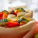 roasted vegetable pita pockets