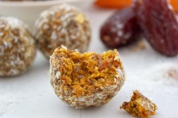 nut free carrot cake bliss balls