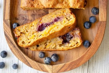 carrot orange and blueberry loaf