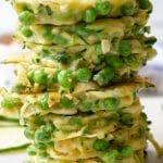 zucchini pea fritters