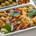 Roasted Pumpkin and Almond Cous Cous Salad