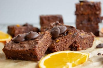 Chocolate Orange Sweet Potato Brownies