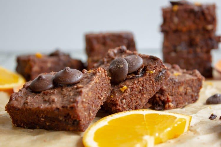 Chocolate Orange Sweet Potato Brownies