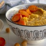 honey roasted carrot hummus