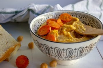 honey roasted carrot hummus