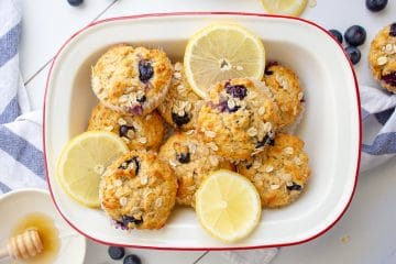 Blueberry Lemon Sour Cream Muffins