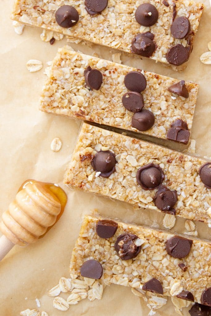 chewy no bake chocolate chip muesli bars