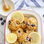image of blueberry lemon and sour cream muffins