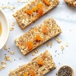 Close up picture of Apricot Chia Muesli Bars