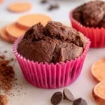 image of Chocolate Muffins with Sweet Potato