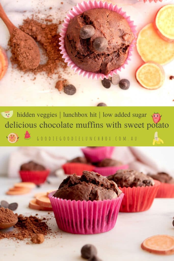 Chocolate Muffins with Sweet Potato